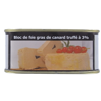 Block of truffled foie gras (3% truffles) – 200 g